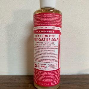 4 bottles Dr. bronners 8oz rose Castile soap